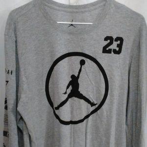 Michael Jordan Special Print On The Sleeve Shirt